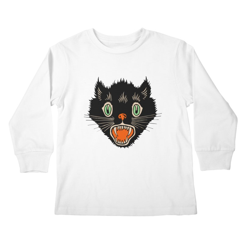 The Evil Cucumber Scared my Cat Kids Longsleeve T-Shirt by mostro's Artist Shop