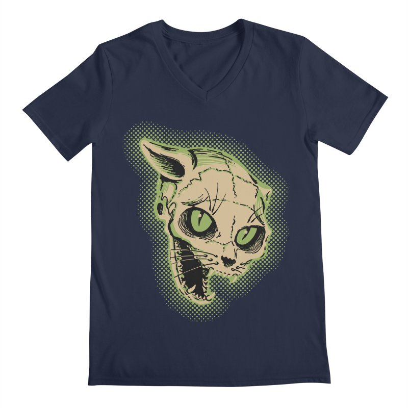 Starved Cat Men's Regular V-Neck by mostro's Artist Shop