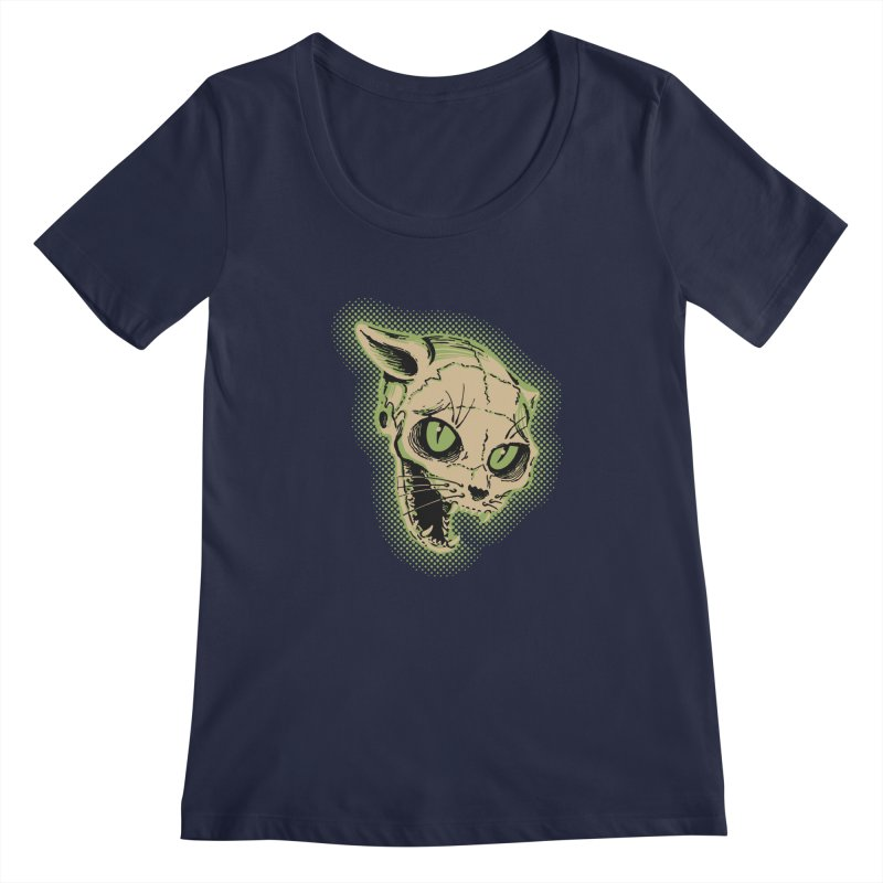 Starved Cat Women's Scoopneck by mostro's Artist Shop