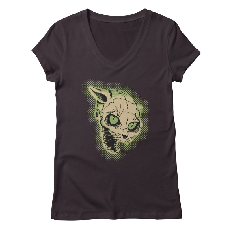 Starved Cat Women's V-Neck by mostro's Artist Shop