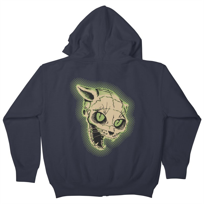 Starved Cat Kids Zip-Up Hoody by mostro's Artist Shop