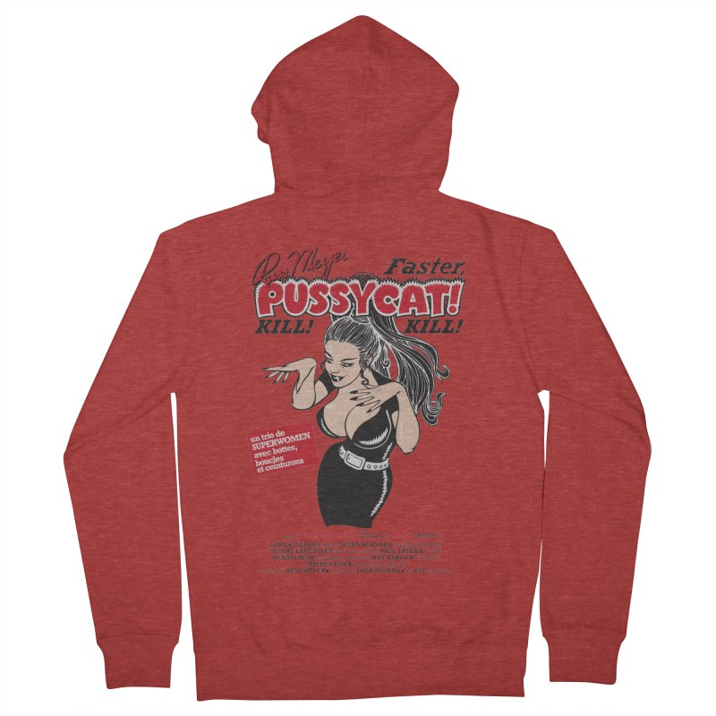 Russ Meyer Faster Pussycat! Kill! Kill! Women's French Terry Zip-Up Hoody by mostro's Artist Shop