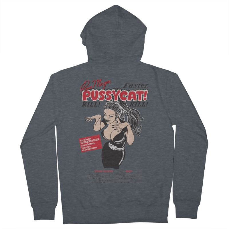 Russ Meyer Faster Pussycat! Kill! Kill! Men's French Terry Zip-Up Hoody by mostro's Artist Shop