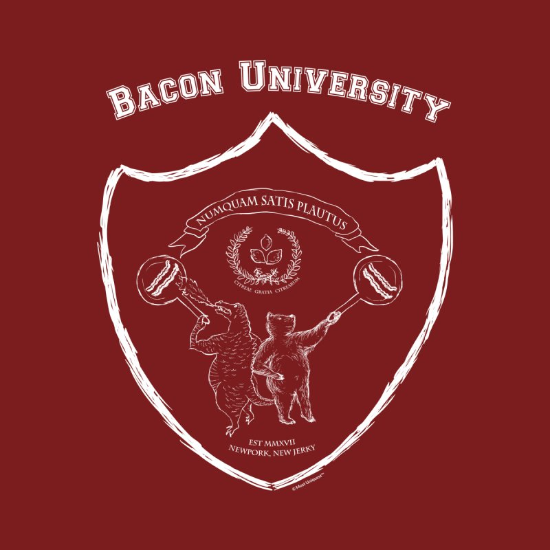 Sizzlin' Bacon University Hoodie - Heather Red Men's Zip-Up Hoody by Most Uniquest's Artist Shop
