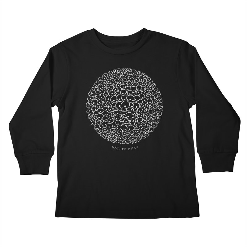 One Thousand One-Eyed Skulls Kids Longsleeve T-Shirt by Mothef
