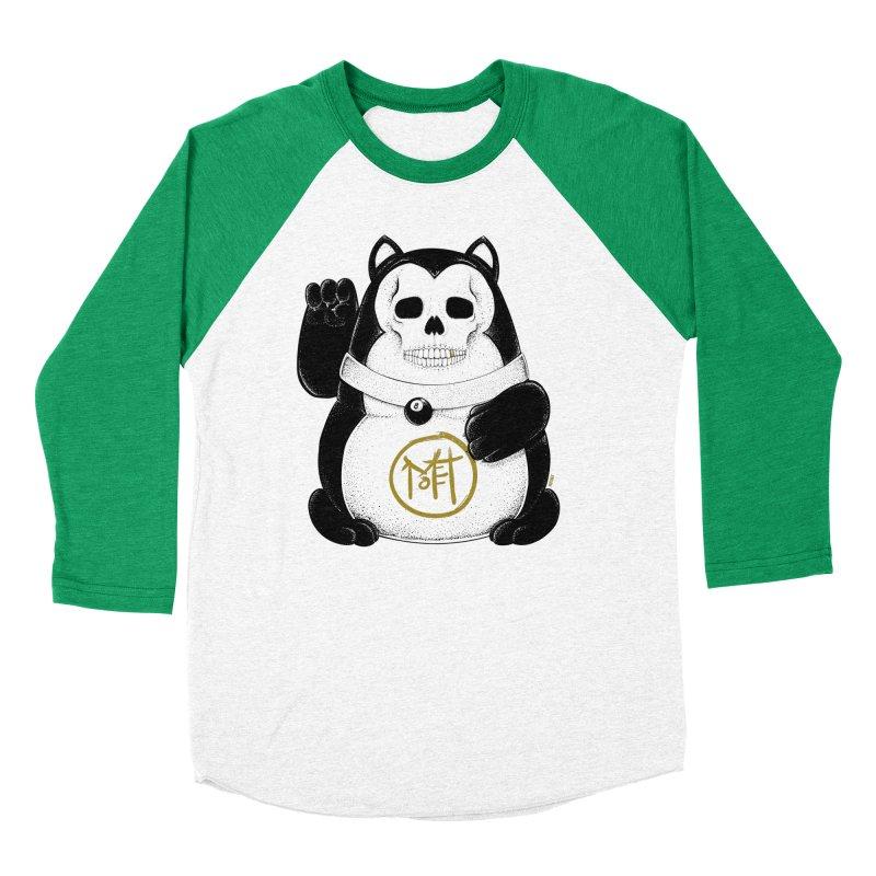 Bad Luck Black Cat Men's Baseball Triblend Longsleeve T-Shirt by Mothef