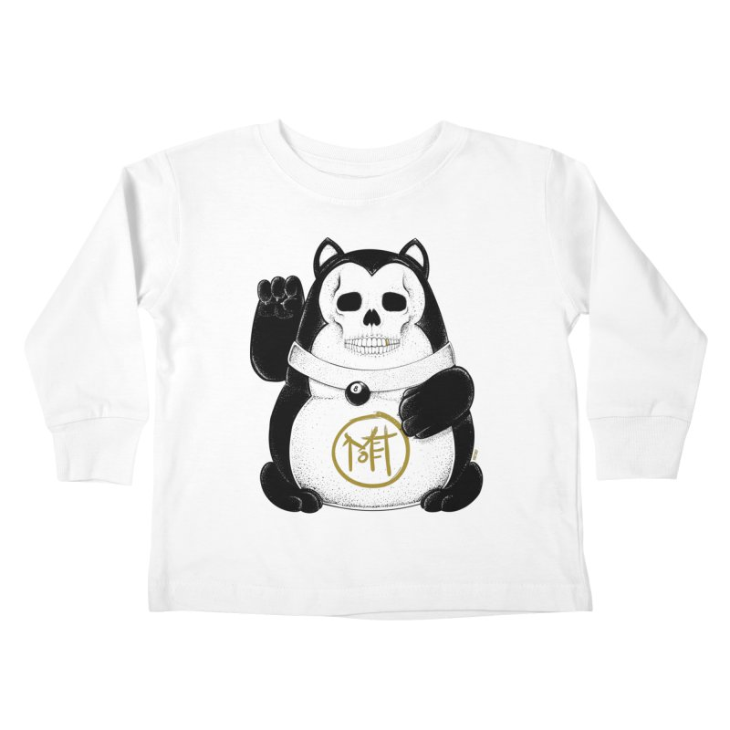 Bad Luck Black Cat Kids Toddler Longsleeve T-Shirt by Mothef