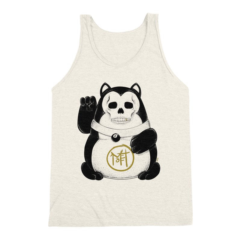 Bad Luck Black Cat Men's Triblend Tank by Mothef