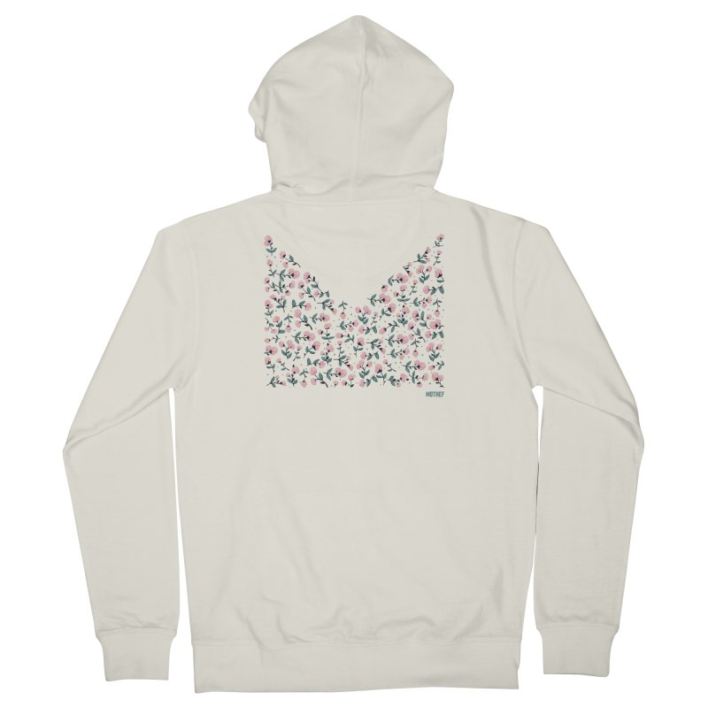 Skull Flowers Men's French Terry Zip-Up Hoody by Mothef
