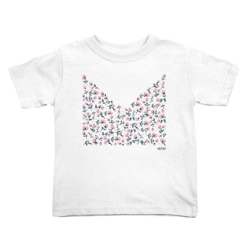 Skull Flowers Kids Toddler T-Shirt by Mothef