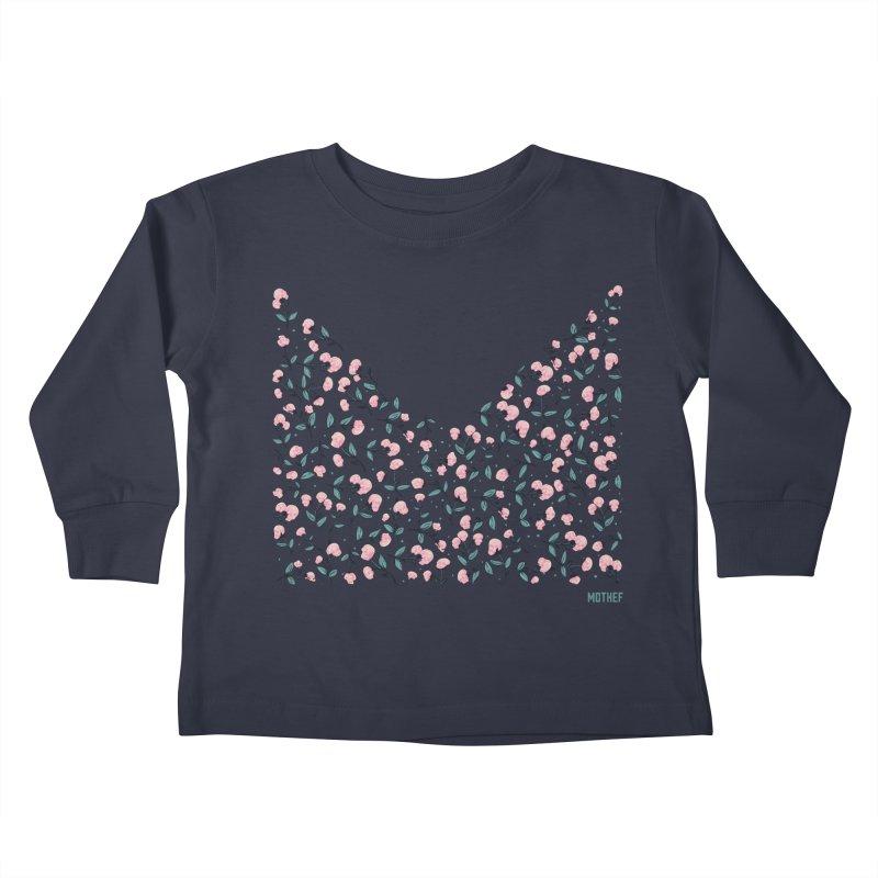 Skull Flowers Kids Toddler Longsleeve T-Shirt by Mothef