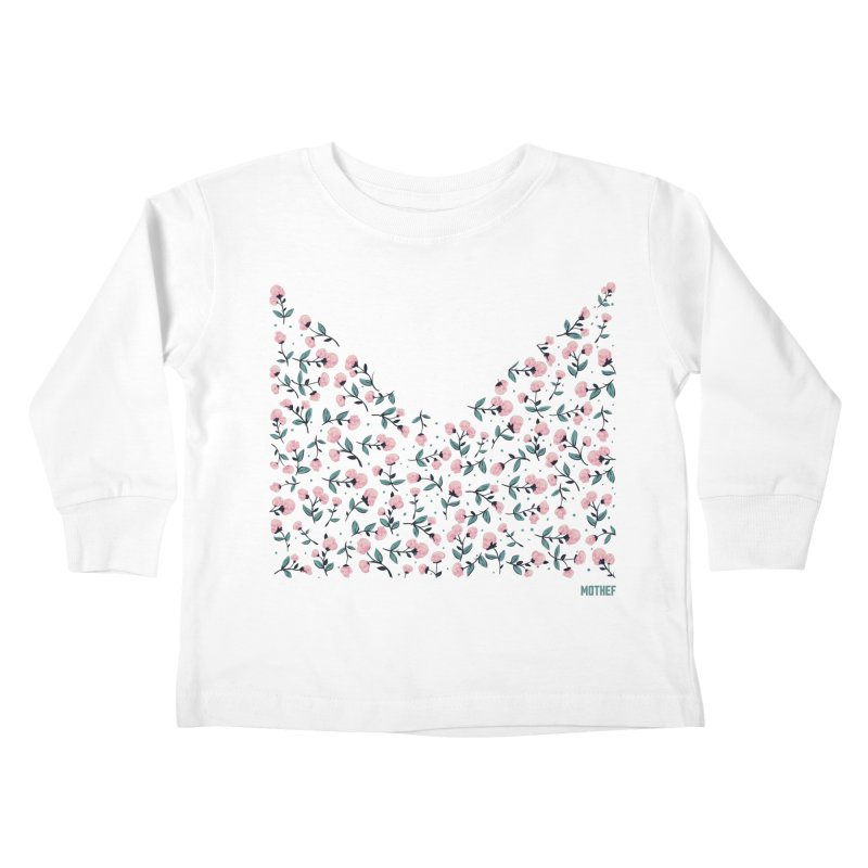 Skull Flowers Kids Toddler Longsleeve T-Shirt by Mothef