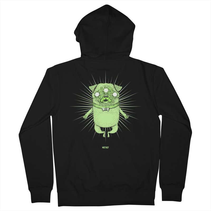 Miracle Pug Men's French Terry Zip-Up Hoody by Mothef