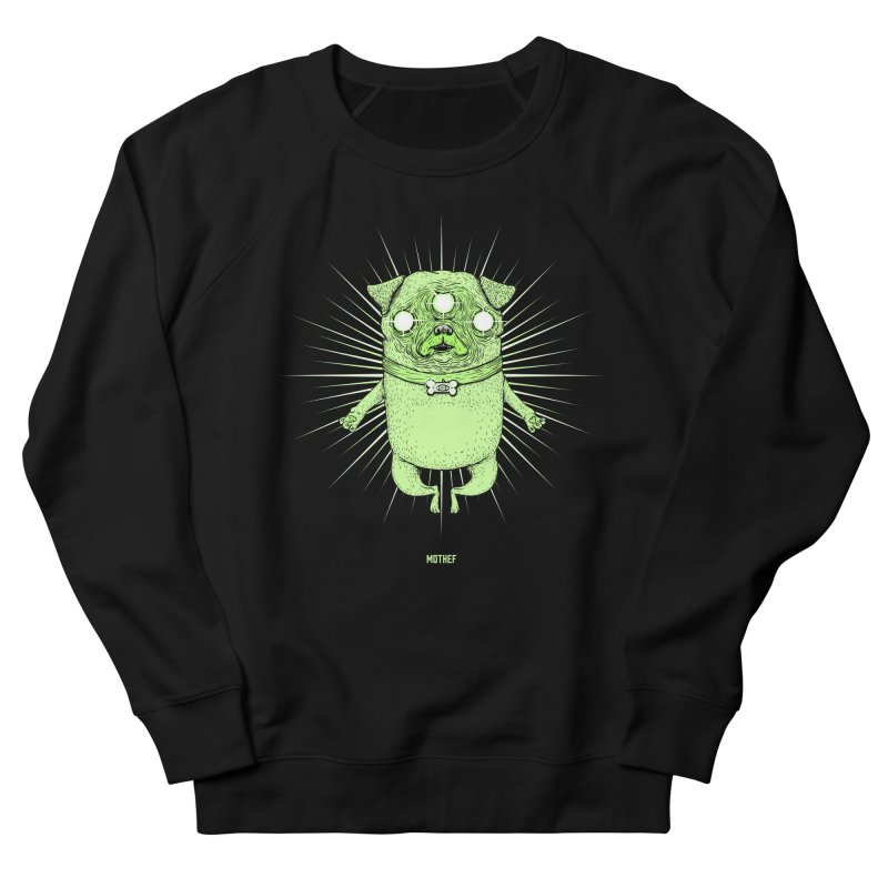 Miracle Pug Women's French Terry Sweatshirt by Mothef