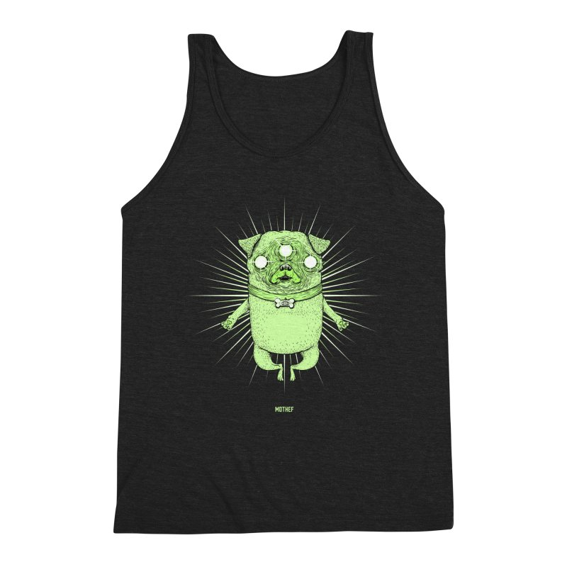 Miracle Pug Men's Triblend Tank by Mothef