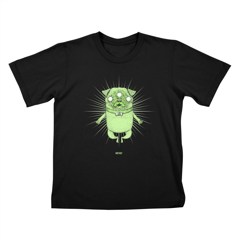 Miracle Pug Kids T-Shirt by Mothef