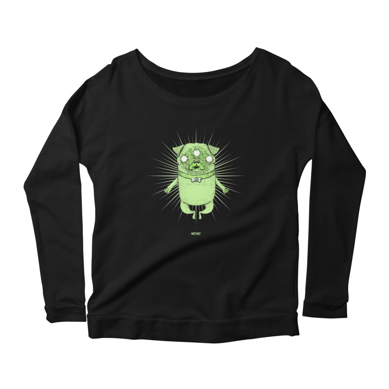 Miracle Pug Women's Scoop Neck Longsleeve T-Shirt by Mothef