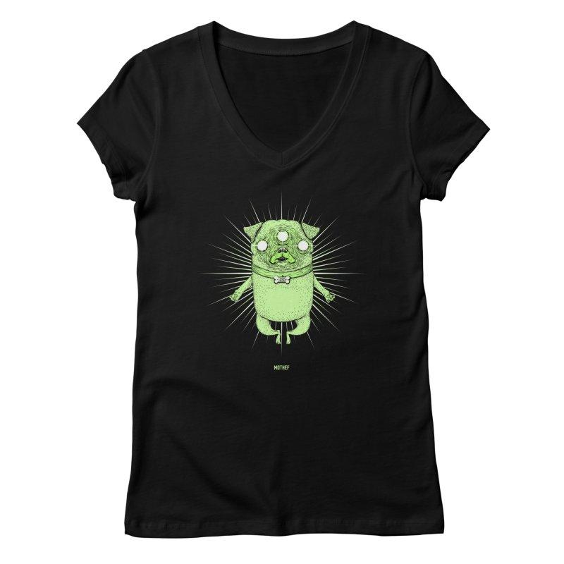 Miracle Pug Women's Regular V-Neck by Mothef