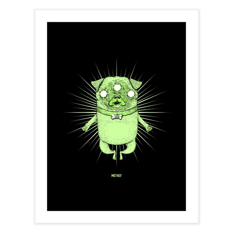 Miracle Pug Home Fine Art Print by Mothef