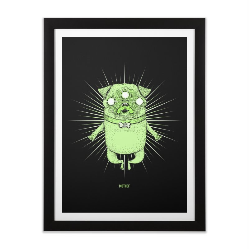 Miracle Pug Home Framed Fine Art Print by Mothef