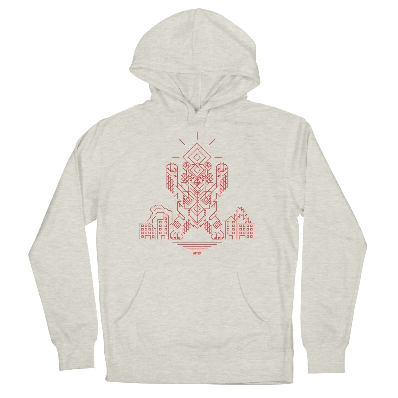 Mecha Kaiju Hipster Bear Women's French Terry Pullover Hoody by Mothef