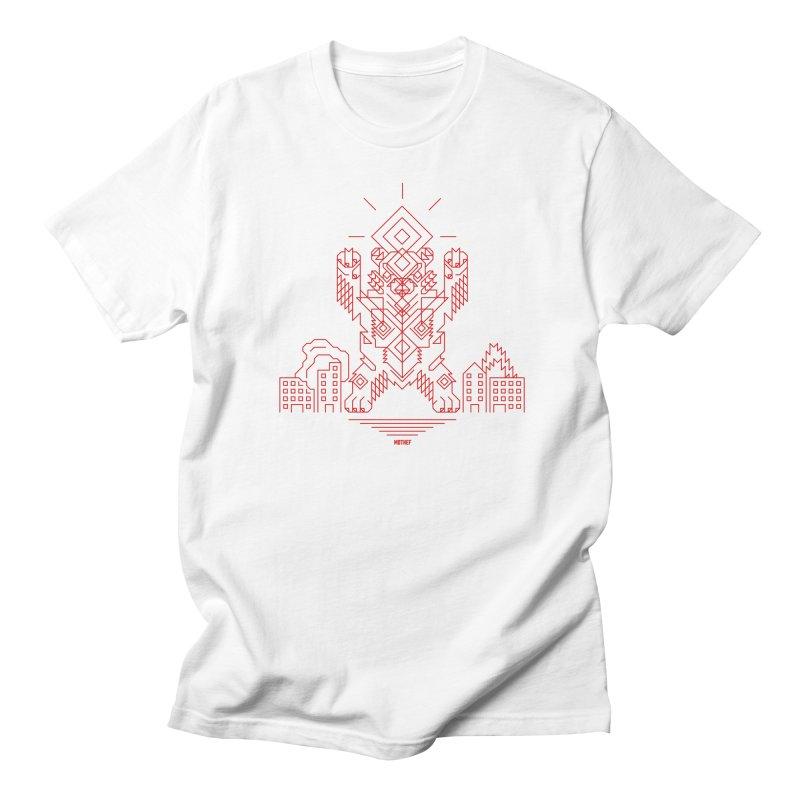 Mecha Kaiju Hipster Bear Men's Regular T-Shirt by Mothef