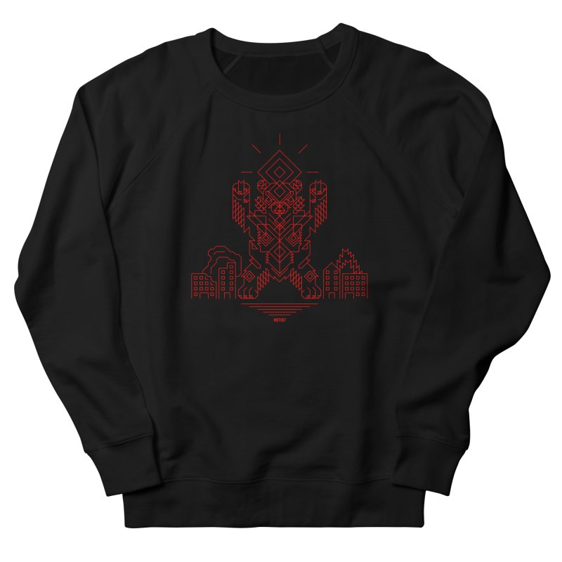 Mecha Kaiju Hipster Bear Women's French Terry Sweatshirt by Mothef