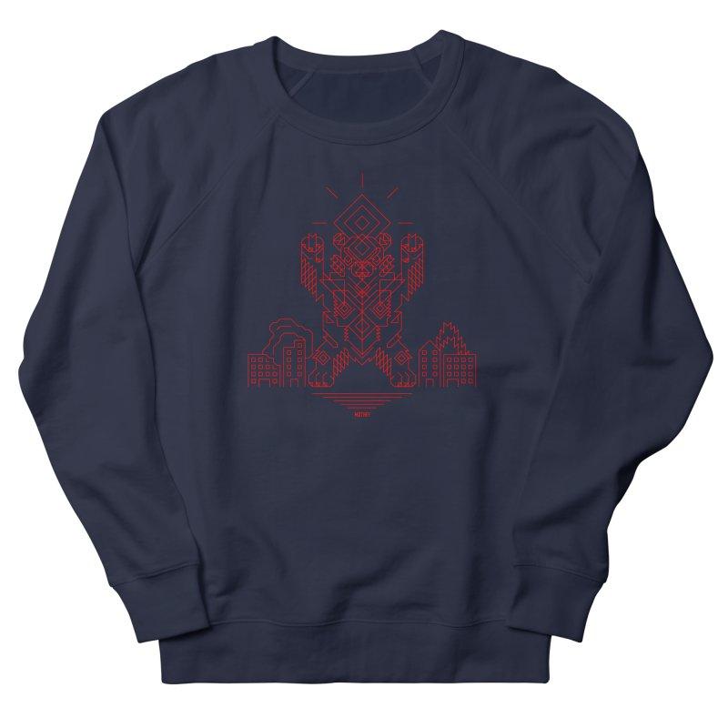 Mecha Kaiju Hipster Bear Men's French Terry Sweatshirt by Mothef