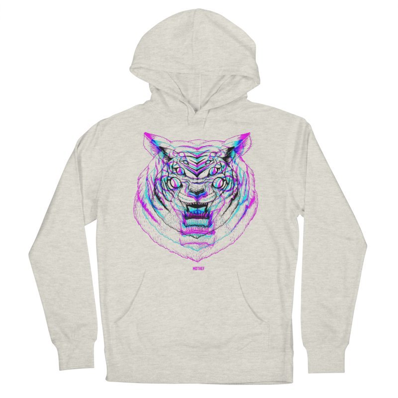 Spider Tiger Men's French Terry Pullover Hoody by Mothef