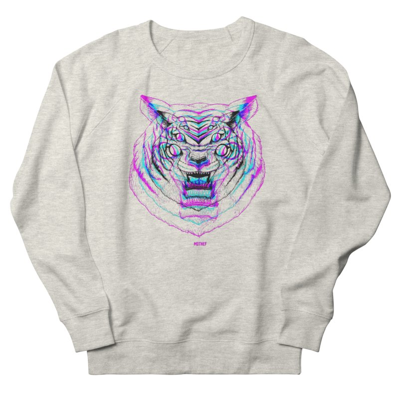 Spider Tiger Men's French Terry Sweatshirt by Mothef