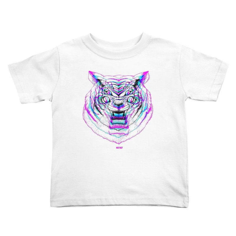 Spider Tiger Kids Toddler T-Shirt by Mothef