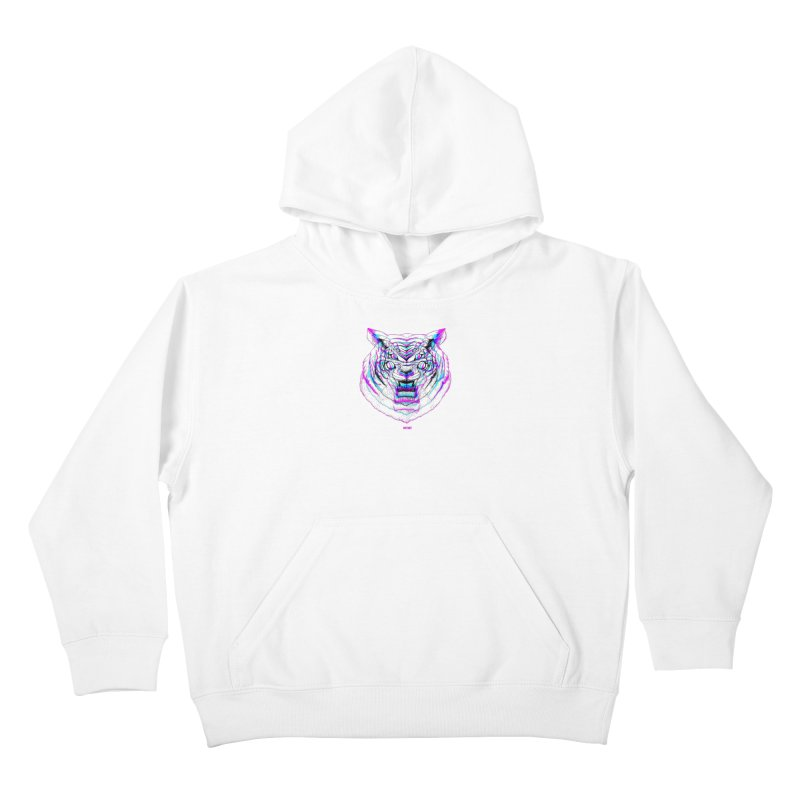 Spider Tiger Kids Pullover Hoody by Mothef