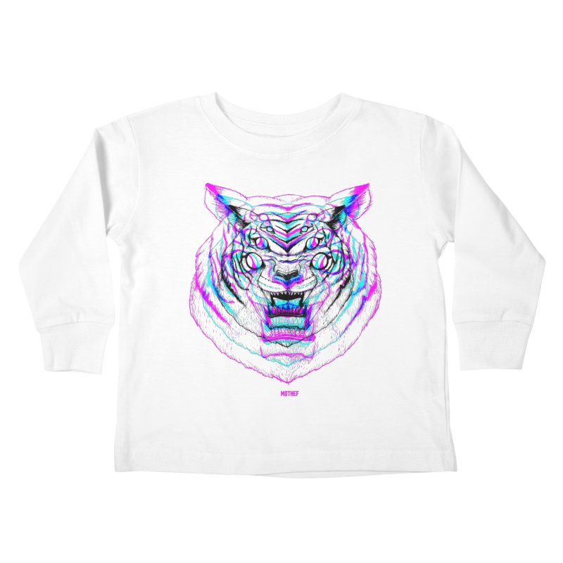 Spider Tiger Kids Toddler Longsleeve T-Shirt by Mothef
