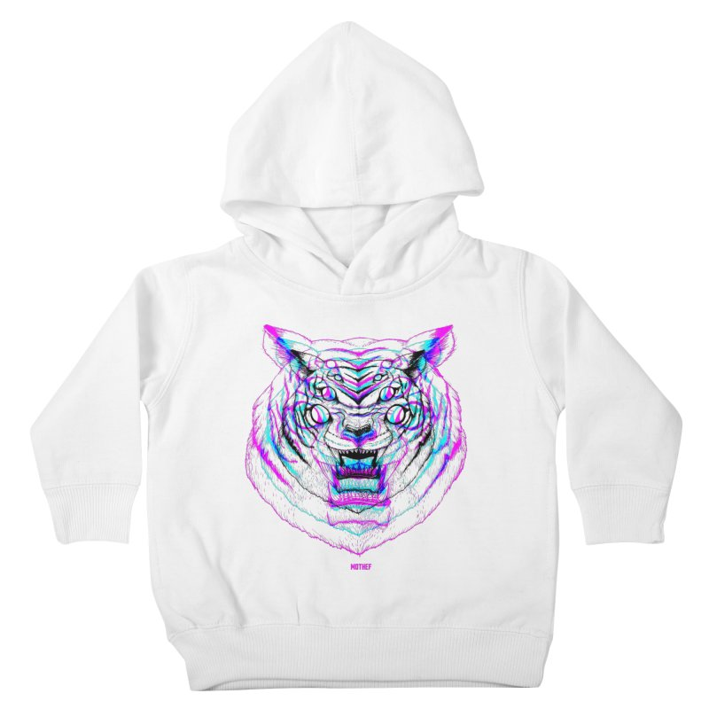 Spider Tiger Kids Toddler Pullover Hoody by Mothef