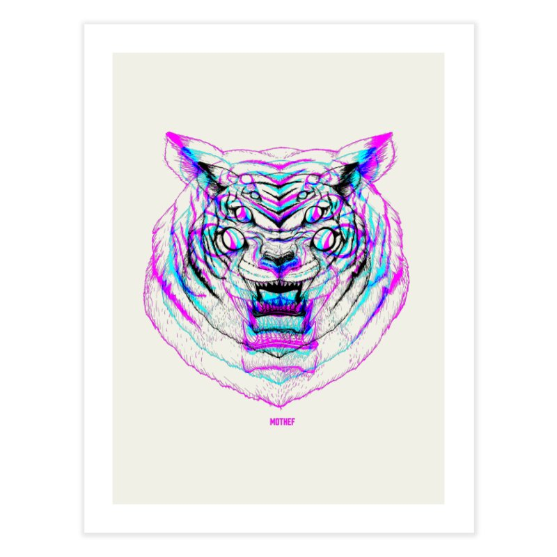Spider Tiger Home Fine Art Print by Mothef