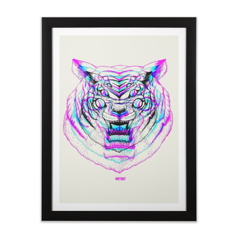 Spider Tiger Home Framed Fine Art Print by Mothef