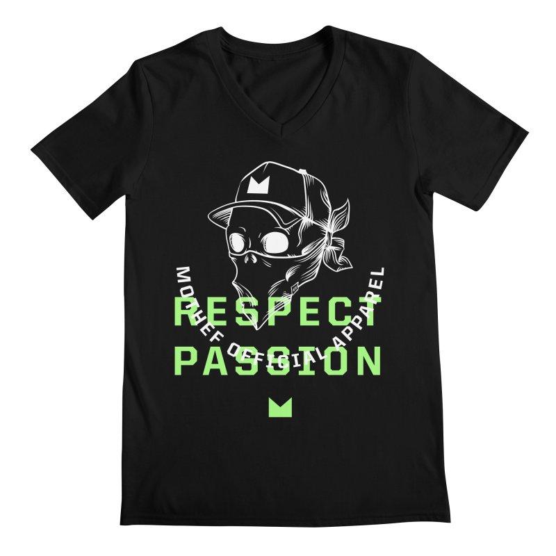 Respect Passion Men's Regular V-Neck by Mothef