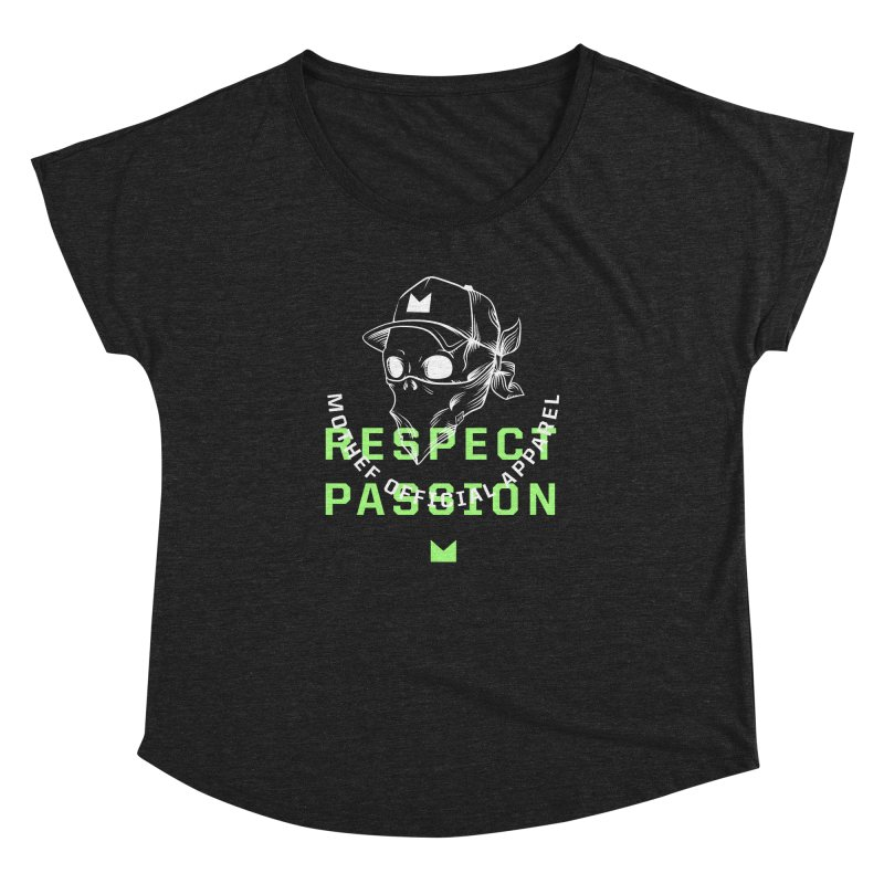 Respect Passion Women's Dolman Scoop Neck by Mothef