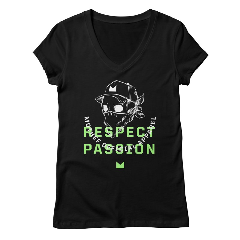 Respect Passion Women's Regular V-Neck by Mothef
