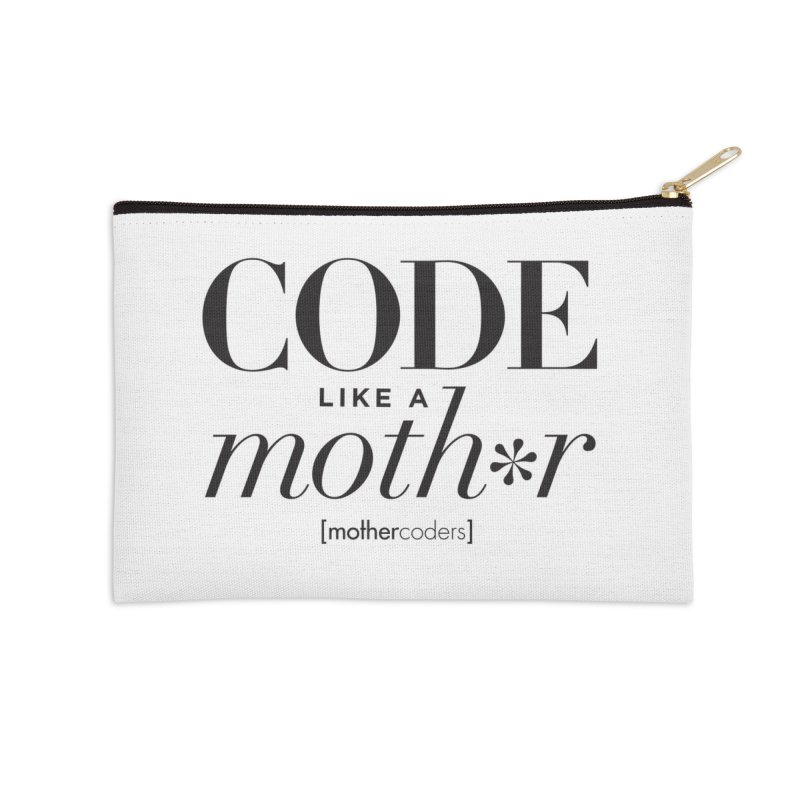 Code Like A Moth*r Accessories Zip Pouch by MotherCoders Online Store