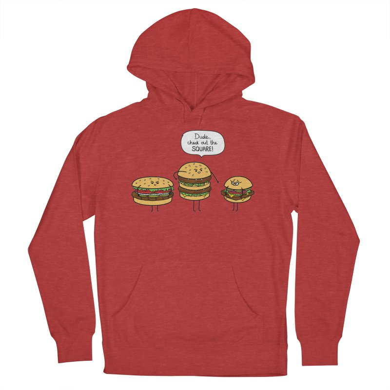 Burger Bullies Women's French Terry Pullover Hoody by Mouki K. Butt: Artist Shop