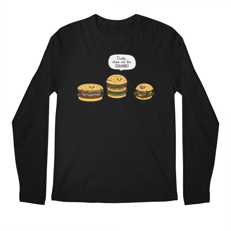 Burger Bullies Men's Regular Longsleeve T-Shirt by Mouki K. Butt: Artist Shop