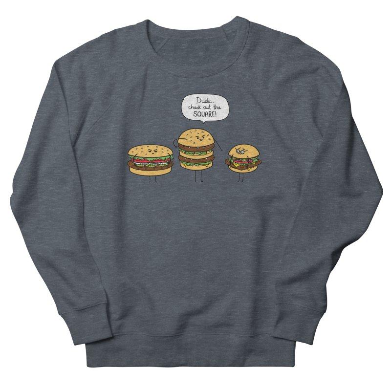 Burger Bullies Women's French Terry Sweatshirt by Mouki K. Butt: Artist Shop