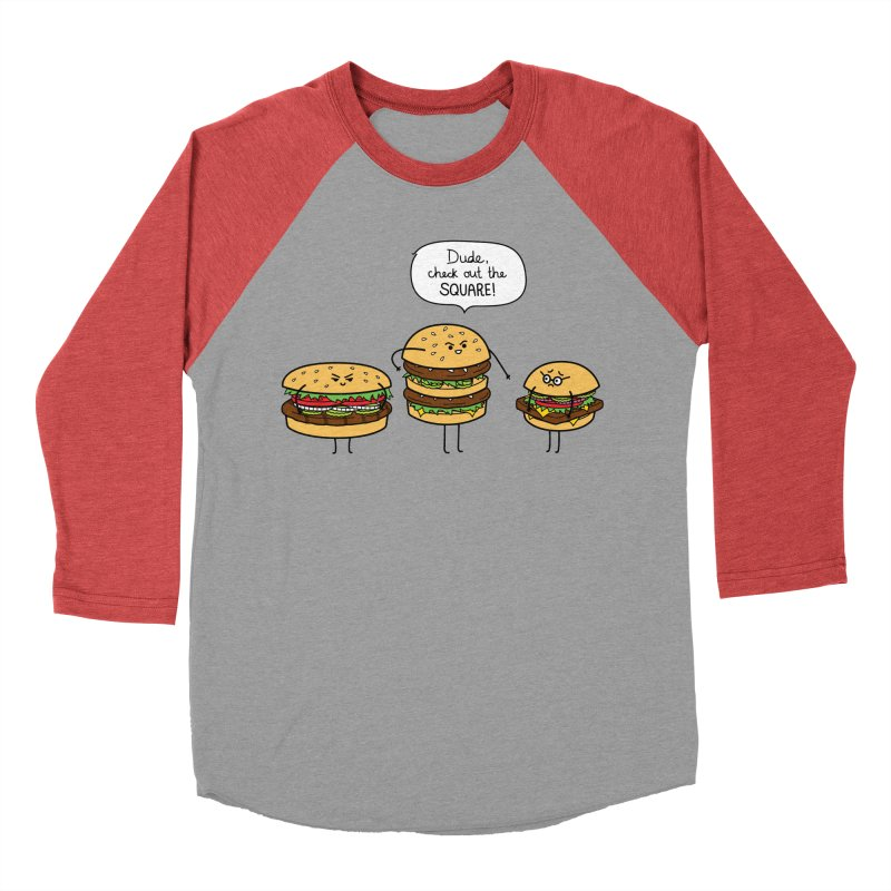 Burger Bullies Women's Baseball Triblend T-Shirt by Mouki K. Butt: Artist Shop