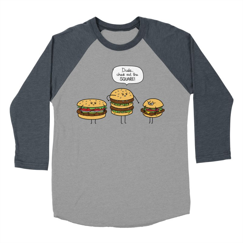 Burger Bullies Men's Baseball Triblend Longsleeve T-Shirt by Mouki K. Butt: Artist Shop