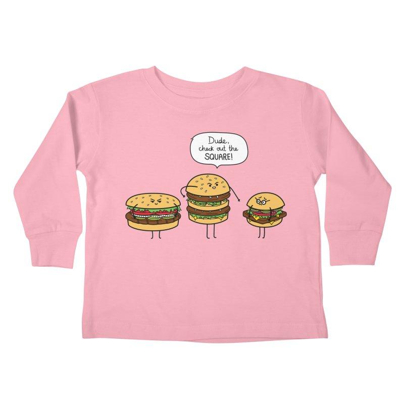 Burger Bullies Kids Toddler Longsleeve T-Shirt by Mouki K. Butt: Artist Shop