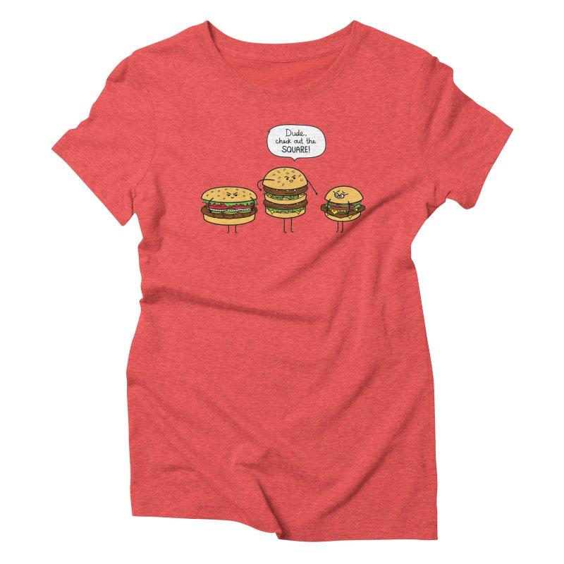 Burger Bullies Women's Triblend T-Shirt by Mouki K. Butt: Artist Shop