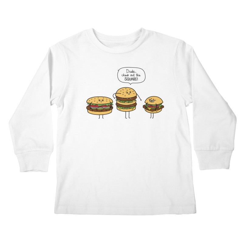 Burger Bullies Kids Longsleeve T-Shirt by Mouki K. Butt: Artist Shop