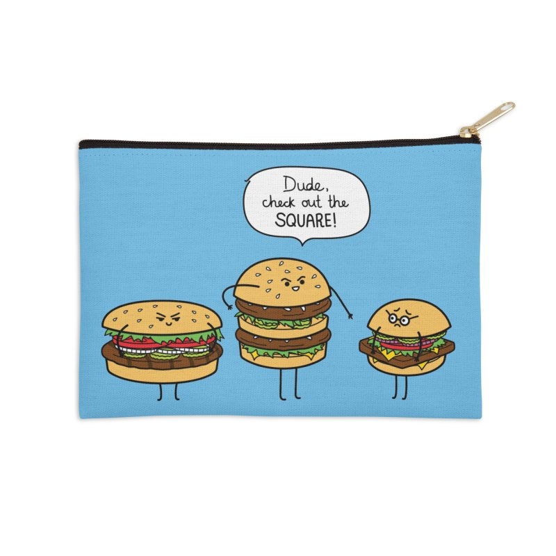 Burger Bullies Accessories Zip Pouch by Mouki K. Butt: Artist Shop