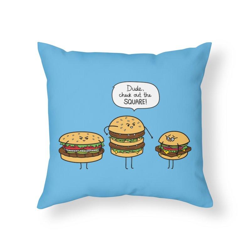 Burger Bullies Home Throw Pillow by Mouki K. Butt: Artist Shop